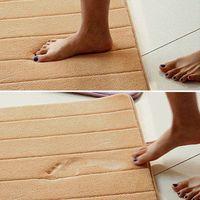 2014 High Quality Slow rebound memory foam mats waste-absorbing slip-resistant bath mat coral fleece mat doormat carpet door mat