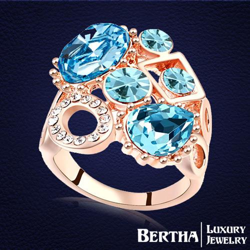 Кольцо Bertha Jewelry Swarovski Joyas 18K 17111 кольцо zhouyang jewelry r239 18k zyr239