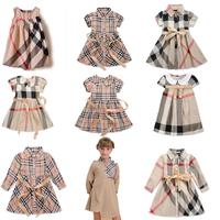 New 2014 Baby Infantis Girls Vestidos Dress Christmas Casual Brand Plaid Dresses Vestido Kids Children Summer Clothing Costume