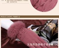 Ms. Cashmere gloves Female winter hair thickening warm gloves  women Wool gloves