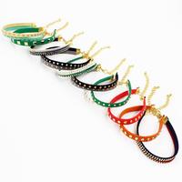 Occident Fashion Jewelry Multicolor Leather Rivet Bangle & Bracelet Wholesale Gift 3 pieces/lot