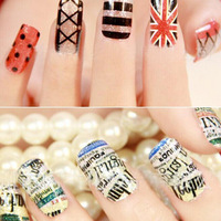 2015 New British style fashion free shipping Three-dimensional nail tools nail water stickers flower Sexy Design Tip Decorations
