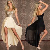 Sexy Dress 2014 Summer Gauze Paillette Bsic Slim Hip Evening Dresses Ruffles Bodycon Casual Dress Clubwear Maxi Dresses 5598D.