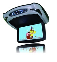 10 inch flip down car roof dvd player with games USB IR