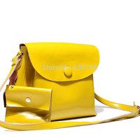 Women's cross-body handbag genuine leather bag fashion clad cover type female real fur bags