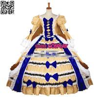 Hot Sale Custom Made Anime Lady Oscar Dress Cosplay Costume
