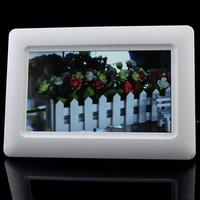"Popular 7"" TFT LCD Digital Photo Frame Alarm Clock Support U SD MMC MS USB White Tonsee8"