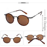2015 Brand Design High Quality Metal STEAMPUNK Retro COATING Mens Vintage Round SUNGLASSES  women gafas OCULOS de sol feminino