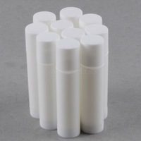 Free Shipping 10x Empty Lip Gloss Tube Lip Balm Bottle Containers 5ml White 4003-087
