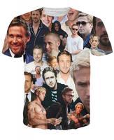 Hot sale New fashion 2014 Mens/Womens Short Sleeve ryan gosling  3D Fun T-shirt S-XL Free Shipping