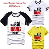2015 Summer Couple Tee Men/Women The big bang theory T shirt 100% Cotton Shirts cavalo camisa Couple dress