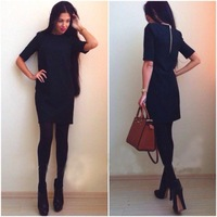 autumn and winter black pencil dress work wear dresses for women fashion clothed female 2014