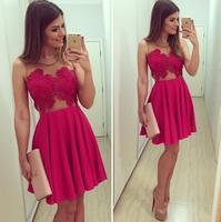 2015 women dress new rose lace dress see through mesh vestidos vestido de festa party dresses vestidos femininos dresses D28