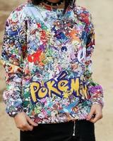 2014 New fashion women/men novelty funny printed pokemon 3D Hoodies sweaters Galaxy sweatshirts