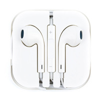 Free Shipping 3.5mm Earbud Earphone Mic Volume Control for iPhone5s for ipod for ipad Black