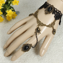 Free Shipping Lace Bracelet Flower Rings Gothic Lolita Punk Party Belly Dance