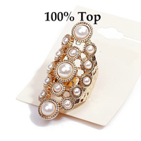 Min Order 9$! Exaggerated Fashion Imitation Pearl Ring for Women Party Gift Jewelry