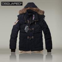 Hot sale DSQ high-end luxury men's thick down jacket fur collar high-quality D2 down coat