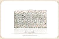 Women's Hot Sale Promotion New Fashion  Diamond Hasp PU Evening Bag Noble Hard Clutch Wholesale Free shipping