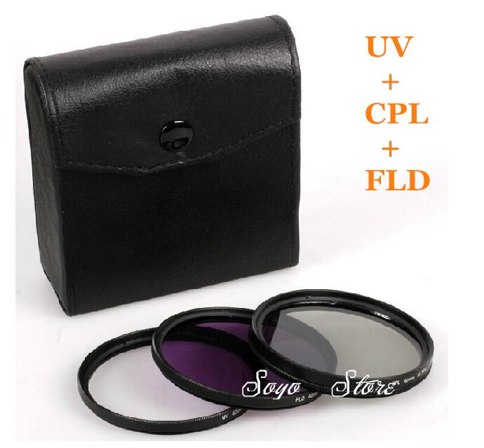 DSLR Camera filter kit 3pcs/set 43mm CPL FLD UV filtros for Canon XL H1A, H1S,H1,XH A1 for PANASONIC HDC-HS300(China (Mainland))