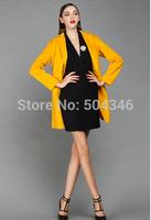 Vogue of new fund of 2014 autumn winters in women's wear loose big yards long woollen coat