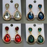 2014 New Design Wedding Earrings, Fashion Luxurious 18K Golden Plated Crystal Earring Water Drop Earrings For Women XHP025