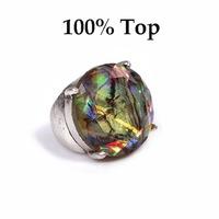 Min Order 9$! Big Rhinestone Shell Pattern Retro Finger Ring Women Jewelry Wholesale