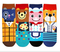 Chiristmas gift Korean women socks sports socks socks For Women's socks calcetines Winter  Pig Lion Pattern