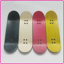 Various colors 50pcs/lot Canadian maple wood deck light wood fingerboard / non-deformed skatebaord deck 10cm*2.95cm  (China (Mainland))