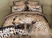 3D Animals Print Queen Bed Linen Quilt/Doona/Duvet Cover Set New 100% Cotton