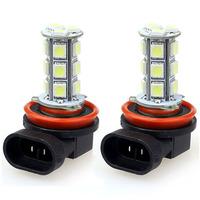 Popular 2x H11 H8 18 LED 5050 SMD Car Day Fog Head light Lamp Bulb Xenon White