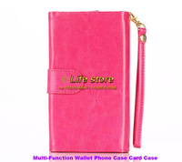 Wallet Case Mobile Phone Leather Case Credit Card Case 3 in 1 caes with a strap For HTC Desire Eye M910X