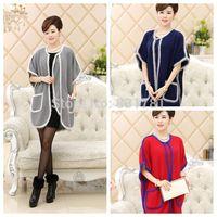 2014 Winter 100% Pure Mink Cashmere Sweater Cardigans Women Female Fashion Batwing Sleeve Plus Size Loose Design