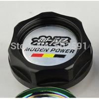 Car Styling Accessorie Aluminium Oil cap Fuel Tank Cap Cover Black MUGEN POWER