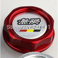 Car Styling Accessorie Aluminium Oil cap Fuel Tank Cap Cover Red  MUGEN POWER