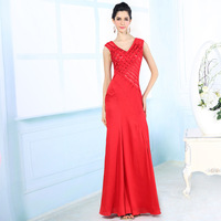Formal Evening Gowns Dress Party Evening Elegant Silk Rhinestone Beaded Long Evening Dress Vestido De Festa Longo Evening Dress