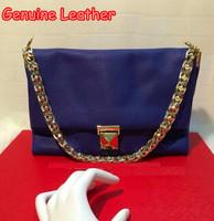 Original Designer Genuine Leather Ladies Valentine Bag Brand New Casual Women Single Gold Chain  Famous Clutch