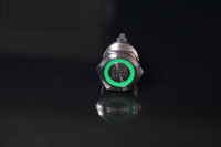 Green Metal pushbutton switch16mm /Resettable / light /water/ high life /auto switch /circular arc LED illuminated mini Annular