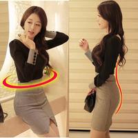 Women's 2014 elegant slim long-sleeve knitted plaid placketing slim hip basic skirt one-piece dress
