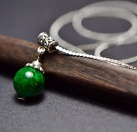 National 925 silver jewelry  women's azurmalachite short design necklace pendant xl066