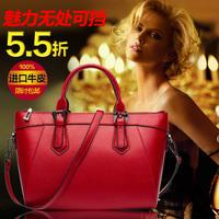 Genuine leather banquet shoulder bag casual handbag dumplings women's handbag big bag
