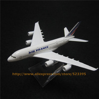 16cm Alloy Metal Air FRANCE Airlines Airbus 380 A380 Airways Airplane Model Plane Model W Stand Aircraft Toy Gift