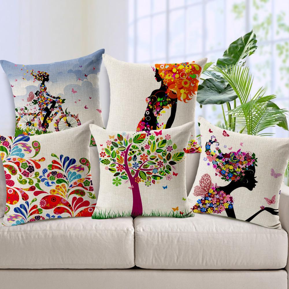 zakka sofa throw pillow case bolster ikea tree car cushion cover home decor almofadas para decorativas fashion capa de almofada