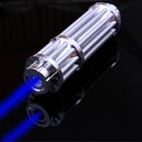 Blue Laser Pointer Pen Adjustable Focus Visible Beam Lighter 445nm Visible Beam