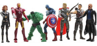 Super Heros Toys 2014 Xmas Best Gifts 7 pcs The Avengers Action Figure Marvel Hulk Captain Spiderman Iron man Thor Set