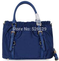 Free Shipping 4colors women's high quality genuine leather nylon handbag lady famous brand designer bag shoulder messenger bags