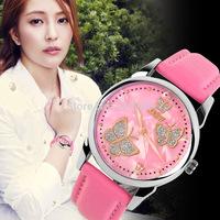 Free shipping 2015 fashion casual woman watch quartz Wristwatches 5 colors--ewa