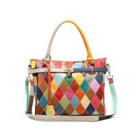 Patchwork women's  shoulder fashion handbag cross-body bag elegant bags