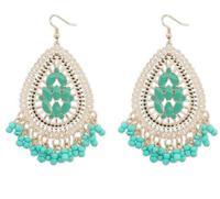 Bohemia Tassel Teardrop-shaped Earrings New Brand Peacock Fashion Black Jewelry For Earrings