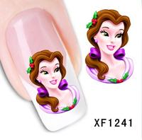 Hot!! Frozen Gel Nails Decal Tip Nail Art Nail Sticker Women Girls Vacation Gift nail gel XF1241